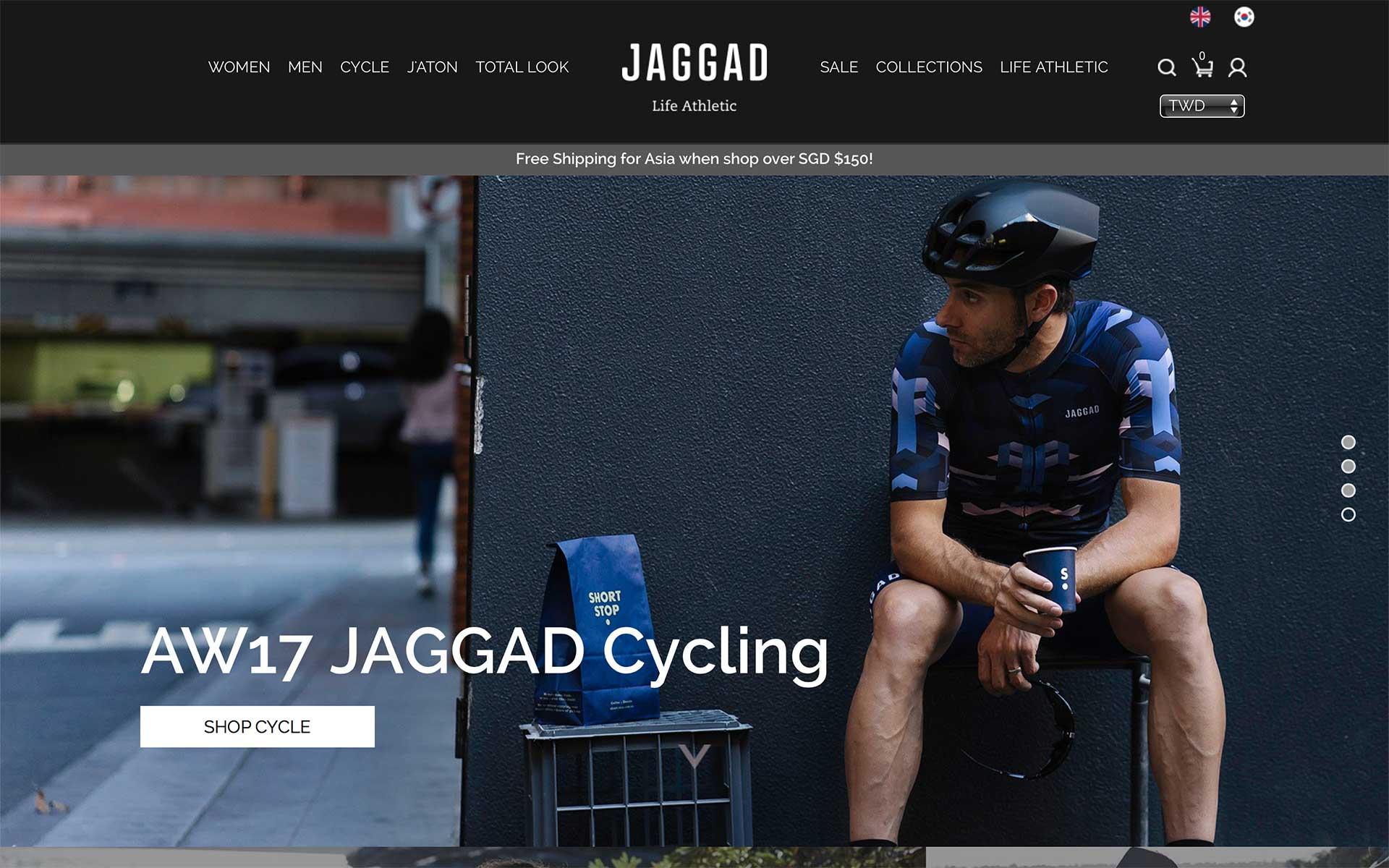 Jaggad 官方網站擷圖