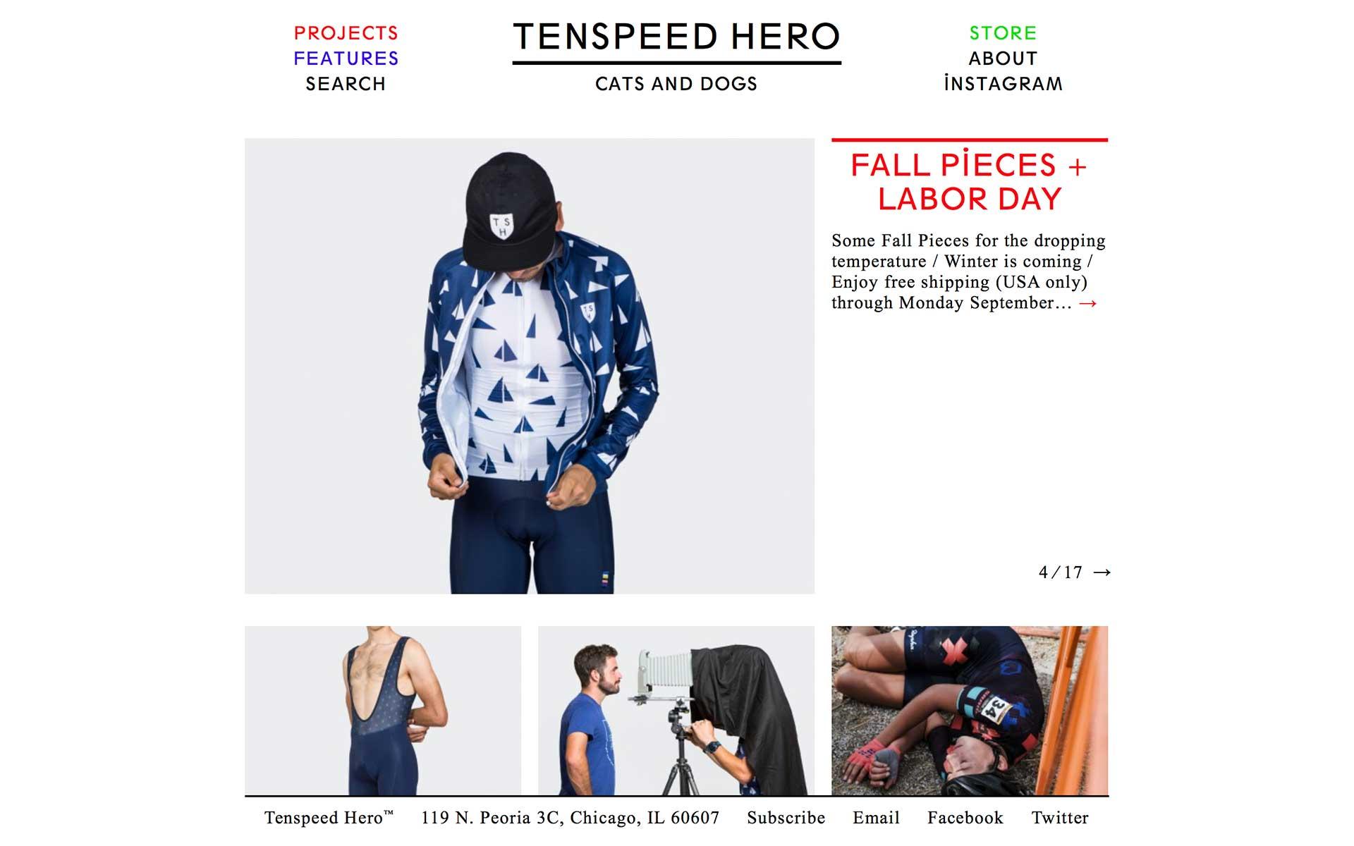 Tenspeed Hero 官方網站擷圖